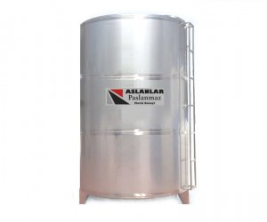 20 Ton Paslanmaz Depo Silindirik Dikey  Sıvı Tankı